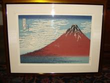 Hokusai Katsushika Woodblock Mt Fuji
