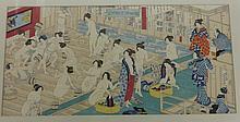 Yoshiiku Utagawa 1833 - 1904 Japan Woodblock Womens bathhouse