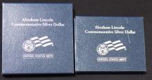 2009 Abraham Lincoln Commemorative Silver Dollar both Proof and Uncirculated