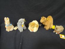 Steiff Lot of 5 animals including