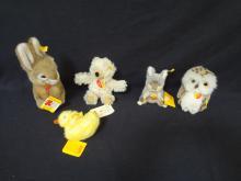 Steiff Miniature Animal Lot of 5