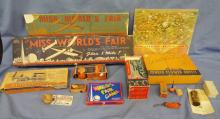 1939 New York World's Fair Novelty Toys in original boxes group of 11