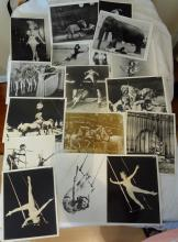 Vintage black and white circus photgraphs featuring acrobats