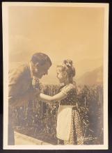 Adolph Hitler with Child Gelatin Photo