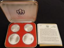 1976 Montreal Olympics 4 Coin Set  Two $10 & Two $5 Coins