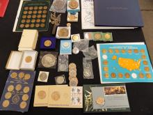 Balance Of One' Man's Collection Of Medallions and Commemoratives