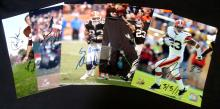 Lot of (5) Autographed Cleveland Browns 8x10 Photographs