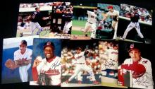Lot of (10) Autographed Cleveland Indians 8x10 Photographs
