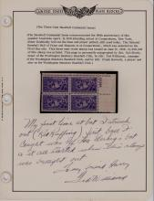 Rare Ted Williams Hand-Written Note on Baseball Centennial Stamp Issue