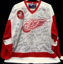 Detroit Red Wings All-Time Greats Signed Jersey, (40+) Signatures