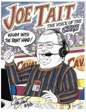 CAVS Announcer Joe Tait Signed Caricature and 4x6 Photograph