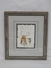 Ojibwa Artist Michael Robinson Original Watercolor