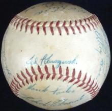 1958 Pittsburgh Pirates Team Signed Baseball, Clemente Dual Signatures