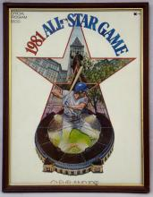 1981 All-Star Game Program, Ticket Stub and Button