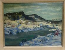 Dean Close(Ohio, 1905 - 1992), Oil On Board River Scene