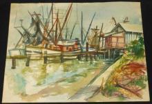 Louis Penfield Ohio Teacher Watercolor