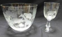 Rowland Ward Safari Punch Bowl & Wine Glass