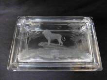 Rowland Ward Big Game Safari Covered Lion Dresser Box
