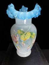 Coralene Glass Vase