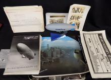 Zeppelin / Blimp Memorabilia Lot REAL Photos, Aerial Shots + Model