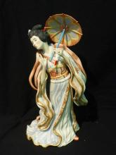 Cybis Madame Butterfly Bisque Figurine 1984