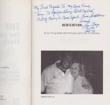 Lou Groza Signed and Inscribed
