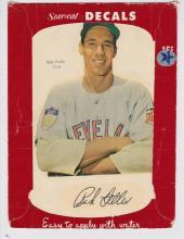 1952 Star Cal Decal Type 1 Bob Feller #74E