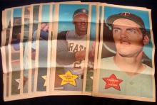 Lot of (62) 1968 Topps Posters, Many Stars with (3) Mantle