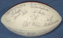 Cleveland Browns Multi-Signed Wilson Football, (25) Sig w Stars