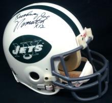 Broadway Joe Namath Signed Full Size NY Jets Helmet