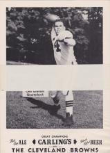 1954 Carling Black Label Cleveland Browns Sealed Photo Pack of 10