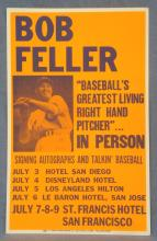 Bob Feller 14x22 Autograph Signing Heavy Stock Poster