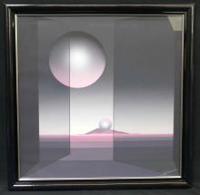 LE Modern Art Stone Lithograph Hand Signed in Chalk