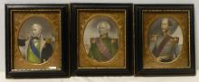 3 Hand Colored Naval History Admirals 18th c. Engravings