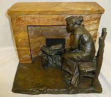 Claudel, Camille(1864 - 1943), Bronze Woman Fireplace Dream