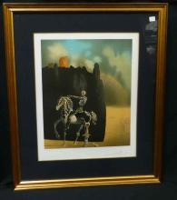 Salvador Dali Hand Signed Numbered Skeleton Riding Horse