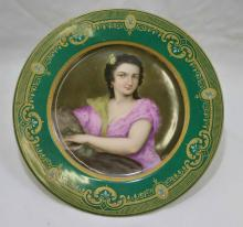 Royal Vienna Signed C. Heer Portrait Cabinet Plate