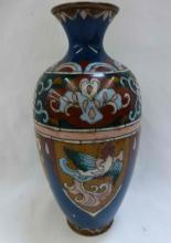 Art Nouveau Enamel On Copper Vase