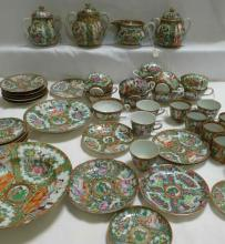 Large Assembled Collection of Various Rose Medallion China