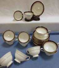 12 Cups & Saucers LEIGHTON Aynsley China