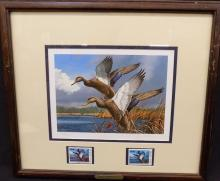 1984 Maine Waterfowl Duck Stamp Print David Maass Signed and Numbered