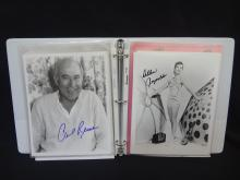 (42) Original Hollywood Autographed Photographs: Robin Williams, Anthony Quinn, Martin Sheen