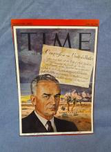 Barry Goldwater Autographed Time Magazine Cover 6-23-1961 LOA from JSA
