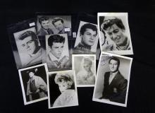 (5) Hollywood Autographs and (4) Vintage Music Postcards