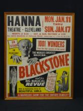 The World's Greatest Magaician Blackstone Original Poster Hanna Theater