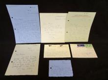 (7) Handwritten Letters from Olivia DeHavilland to Arnold Weissberger. Written and Signed by her own hand.