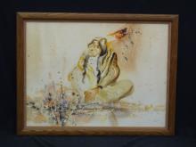 Blackfeet Artist King Kuka Original Watercolor