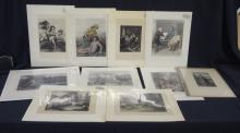 1870's Engravings and Photogravures Paintings and People
