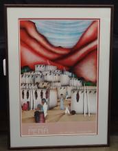 Amado Pena Pascua Yaqui Tribe AZ artist Signed Lithograph