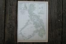 Authentic Vintage 1928 - Philippines Map #77995v2
